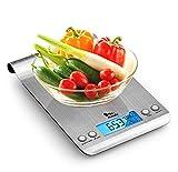 himaly Báscula Digital para Cocina de Acero...