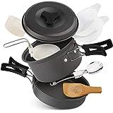 StyleBest - Batería de cocina de camping antiadherente...