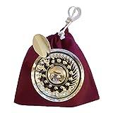 Euposia Tastevin Sommelier Mod. Borgoña Profesional – Silver Plated – Paquete de Incluye Cadena para el Cuello y Funda Protectora.