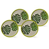 BIOZOYG Set Platos Planos bambú orgánico con Motivo...