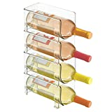 mDesign Soporte para botellas de vino apilable –...