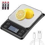 MOSUO Báscula Digital para Cocina con Cable USB,...