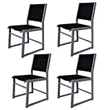 Chicreat - Juego de 4 sillones de aluminio tapizados...