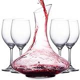 Mafiti Decantador de Vino con Copas incluídas (Cuatro...