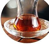 Topkapi - Juego de 6 posavasos para vasos de té turcos Zeynep redondos, diámetro de 10,2 cm, 6 unidades