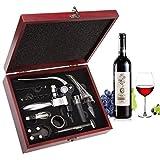 Juego de accesorios de vino, sacacorchos de palanca...