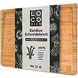 Loco Bird Tabla Cortar Cocina de bambú macizo con...