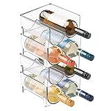 mDesign Estante para botellas de vino - Ahorre espacio...