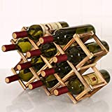 ECOSWAY Plegable Madera Botella de Vino Holde, 3/6/10...
