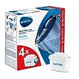 Marella Blu - Jarra filtrante para agua, kit de 4...