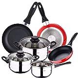 San Ignacio PK2356 Batería de cocina 5 piezas acero...