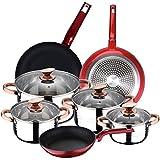 BERGNER Set 3 sartenes y Batería de cocina 8 piezas