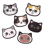 Posavasos de silicona con diseño de gato-Alfombrilla...