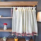 Kitchen Curtains Cortina Corta Visillo Dormitorio Media...