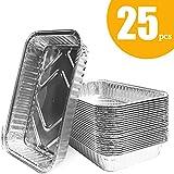 OMZGXGOD 25 Bandejas de Aluminio Desechables, Hornear,...