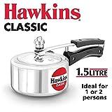 Hawkin Classic CL151.5litros olla a presión de aluminio nuevo mejorado, pequeño, Plata 1.5-Liter plata