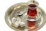 Topkapi–18de piezas Türkisches Juego de té ajda de Sultan, 6vasos de té, 6Posavasos, 6cucharillas de té, set completo