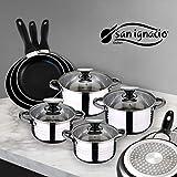 San Ignacio Juego de Sartenes y Batería de Cocina,...