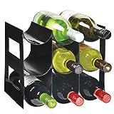 mDesign Práctico estante para botellas de vino –...