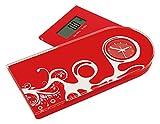 Jocca 7128R q-max Báscula multifuncional, color roja,...