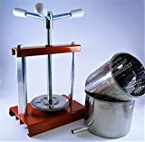 Queso prensa 5,9l con prensa de acero inoxidable cesta (molde) 4,3L–fruta prensa–prensa de vino–hecho en Italia