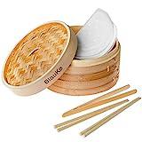 Vaporera de Bambú 25cm para Arroz, Dim Sum, Verduras,...