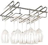 WENKO 2748140100 - Accesorio para armarios cuelgacopas, para 12 vasos, Metal cromado, 34 x 8 x 25 cm
