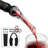 Mafiti Decantador Aireador de Vino Profesional. Elegante y práctico para amantes del Vino. Vertedor de vinos ideal para fiestas y eventos.