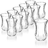com-four Juego de Vasos de té de 12 Piezas, Vasos de...