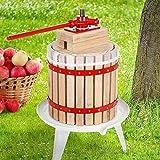 BURI Exprimidor de frutas y bayas, 12 L, prensa de vino, fruta y manzanas