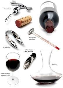 utensilios para vino